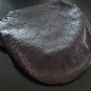 Authentic Gucci Genuine Leather Brown Hat